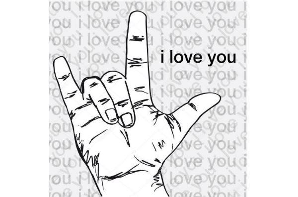 автоматический перевод языка жестов в текст и обратно — жест i love you