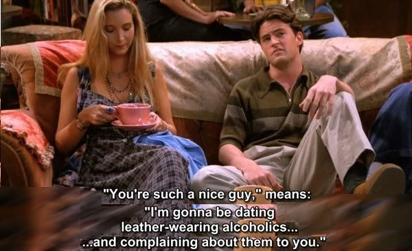 friends: quote about «nice guy»