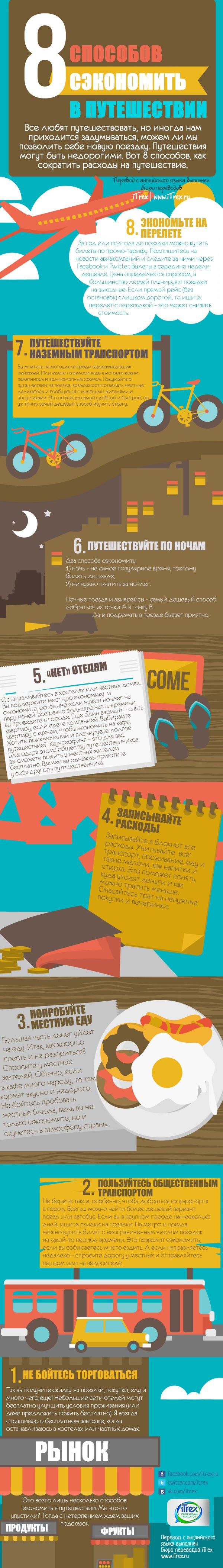 Перевод сделан в Бюро переводов iTrex, Москва: 8 способов сэкономить в путешествии
