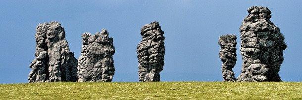 Сибирь: каменные истуканы плато Маньпупунер