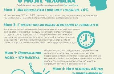 Топ-10 мифов о мозге человека