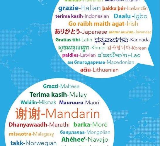 «Спасибо» на 100 языках мира