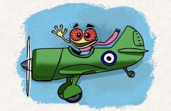 A red-eye flight